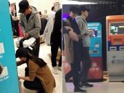Làng sao - Lộ ảnh Thang Duy bụng bầu đi mua sắm cùng chồng
