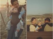 Kim Hiền lần đầu đưa con gái 8 tháng tuổi đi biển