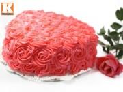 Bếp Eva - Bánh kem hoa hồng dành tặng mẹ ngày 8/3
