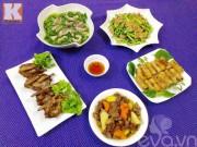 Bếp Eva - Bữa cơm chiều cho 5 người ăn đầy hấp dẫn