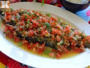 Bếp Eva - Ngon mê với cá hấp chan cà chua lạ miệng