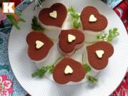 Bếp Eva - Bánh phô mai cacao hình trái tim tặng mẹ