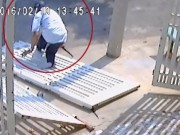 Tên trộm cạy khóa cổng bị cửa đè gãy chân ở Sài Gòn