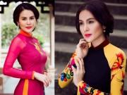 Thời trang - Á hậu Phương Lê sang trọng với áo dài 8-3