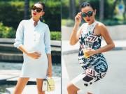 Thời trang - Váy bầu sành điệu không thể chê của Diệu Huyền
