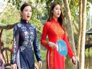Làng sao - T-ara đẹp hút hồn khi diện áo dài truyền thống Việt Nam