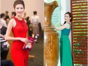 Ảnh đẹp Eva - Á hậu Thúy Vân đẹp rạng ngời trong sắc đỏ