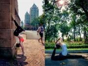 Làm đẹp - Phương Trinh Jolie tập yoga khắp Sài Gòn