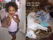 Cười té ghế với những tai nạn son phấn do bé yêu gây ra