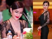 Thời trang - Á hậu Phương Lê lộng lẫy với váy ren, môi đỏ kiêu kỳ