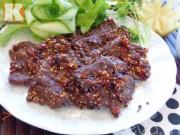 Bếp Eva - Thịt bò khô tẩm sả ớt cho chàng nhâm nhi