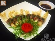 Thịt bò cuộn nấm kim châm nướng siêu ngon