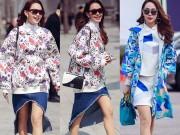 Thời trang - Minh Hằng siêu dễ thương tại Tuần thời trang Seoul