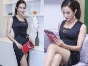 Thời trang - Diệp Lâm Anh khoe chân thon với đầm xẻ cao