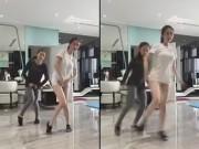 """Clip Eva - Ngọc Trinh """"giấu quần"""" nhảy shuffle cực đáng yêu"""