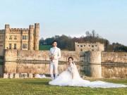 """Làng sao - Lộ ảnh cưới hiếm hoi của """"Chị Cả"""" TVB ở Anh"""