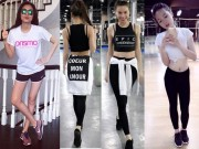 Thời trang - Hà Tăng, Hà Hồ, Kỳ Duyên sexy bỏng mắt ở phòng tập