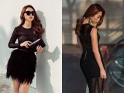 """Thời trang - """"Bom sexy"""" Quỳnh Thy mặc váy xuyên thấu dạo phố"""