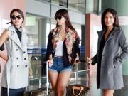 Ảnh đẹp Eva - Hà Anh, Trang Khiếu, Hoàng Thuỳ sành điệu ở sân bay Hà Nội