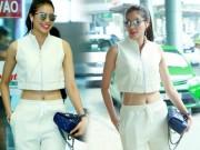 Làng sao - Hoa hậu Phạm Hương khoe eo thon ở sân bay