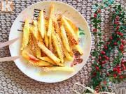 Bếp Eva - Mê mẩn với khoai lang chiên vừng vàng giòn trộn mật ong