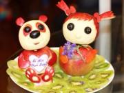 Bếp Eva - Hình ngộ nghĩnh từ táo trang trí sinh nhật cho bé yêu