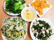 Bếp Eva - Bữa cơm ít thịt nhiều rau vẫn hấp dẫn