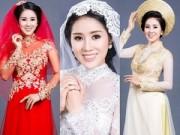 """Thời trang - Lê Phương mặc áo dài cưới """"không đụng hàng"""""""