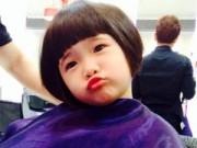 """Làng sao - Con gái Thuý Nga đang cắt tóc vẫn """"nhí nhố"""""""