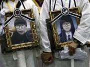 Tin tức - Chìm phà Sewol: Cha mẹ nạn nhân cạo đầu diễu hành 41 km