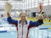 Tin tức - Cụ bà 100 tuổi người Nhật vô địch cuộc thi bơi 1.500m