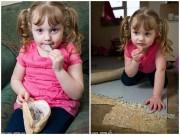 Làm mẹ - Cô bé 4 tuổi nghiện ăn...thảm, đồ gỗ, cát