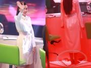 """Làng sao - Hồ Ngọc Hà tháo giầy nhún nhảy trên ghế """"nóng"""""""
