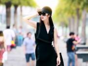 """Thời trang - Jennifer Phạm diện """"cây đen"""" cực chất trên đường phố"""