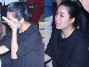 Lê Khánh khóc nghẹn khi đến viếng Duy Nhân