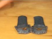 Thời trang - Cách chế dép lê từ quần jeans không khó