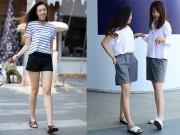 Thời trang - Hè đến, bạn gái Việt khoe chân nuột nà với quần sooc