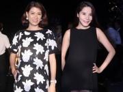 """Làng sao - Trang Trần, Kiwi Ngô Mai Trang """"vác"""" bụng bầu đi sự kiện"""