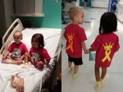 Làm mẹ - Xúc động tình bạn của hai cô bé ung thư tại bệnh viện