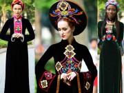 Thời trang - Thích thú ngắm mẫu Tây e lệ trong tà áo dài
