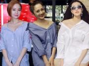 Thời trang - Bí quyết mặc áo sơ mi quyến rũ nhất hè từ sao  Việt