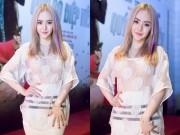 Làng sao - Em gái Angela Phương Trinh diện áo xuyên thấu đi xem phim