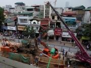 Tin tức - Thi công trở lại tuyến Nhổn-ga Hà Nội sau vụ sập cần cẩu