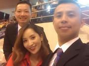 """Làng sao - Khánh Thi tươi tắn xuất hiện cùng """"tình cũ"""" Chí Anh"""