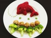 Bếp Eva - Cuối tuần làm cơm sốt củ dền hình cá xinh xinh cho bé