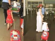 Con gái Thủy Tiên - Công Vinh duyên dáng ở sân bay