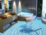 Nhà đẹp - Nhà vệ sinh thành thủy cung trong chớp mắt nhờ sàn 3D