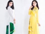 Hoa hậu Triệu Thị Hà nền nã với áo dài truyền thống