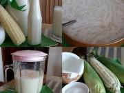 Làm mẹ - 20 nghìn làm sữa dừa ngô nếp ngọt mát cho bé