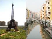 Nhà đẹp - Sững sờ Eiffel, Venice bỗng 'bay sang' Trung Quốc